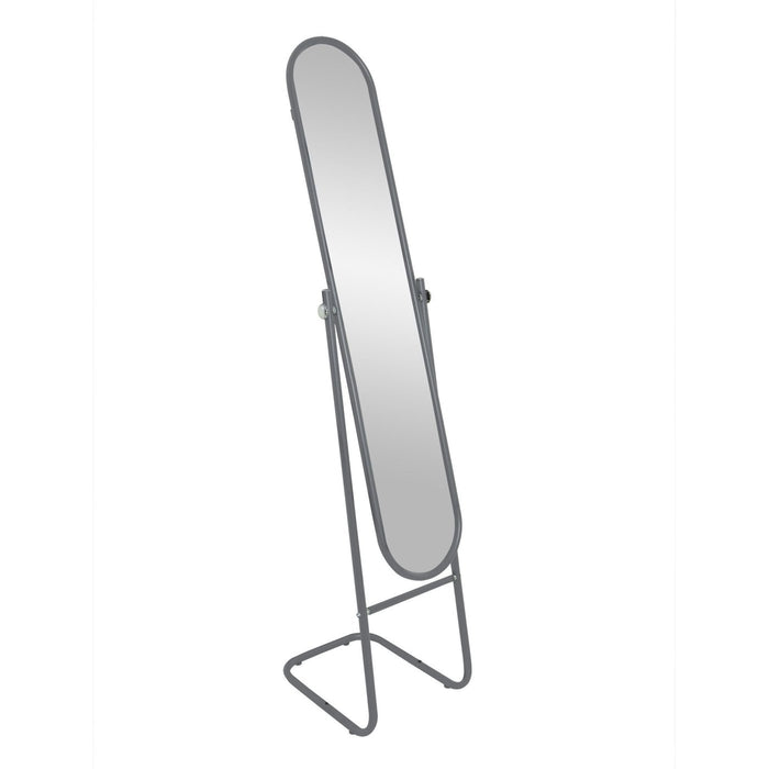 Harbour Housewares Freestanding and Tilting Full Length Floor Mirror - Silver