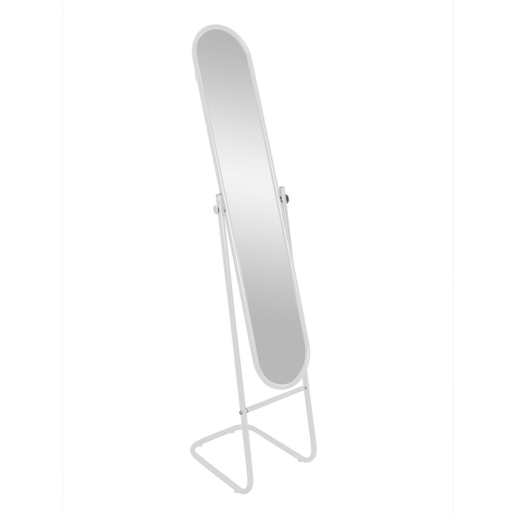 Harbour Housewares Freestanding and Tilting Full Length Floor Mirror - White