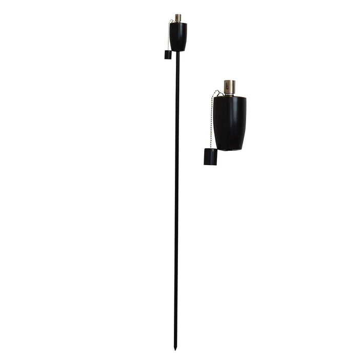 Harbour Housewares Outdoor Fire Torches - Black - Barrel Design