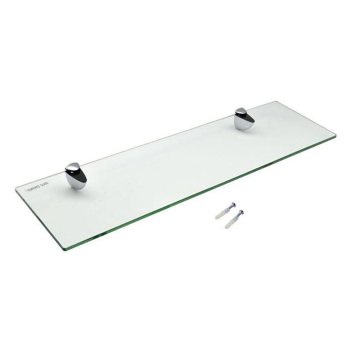 Harbour Housewares Glass Bathroom Shelf - 50x14.5cm