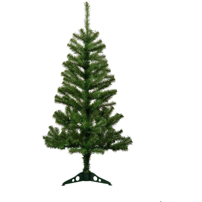 Harbour Housewares Artificial Pine Christmas Tree With Stand - 4ft
