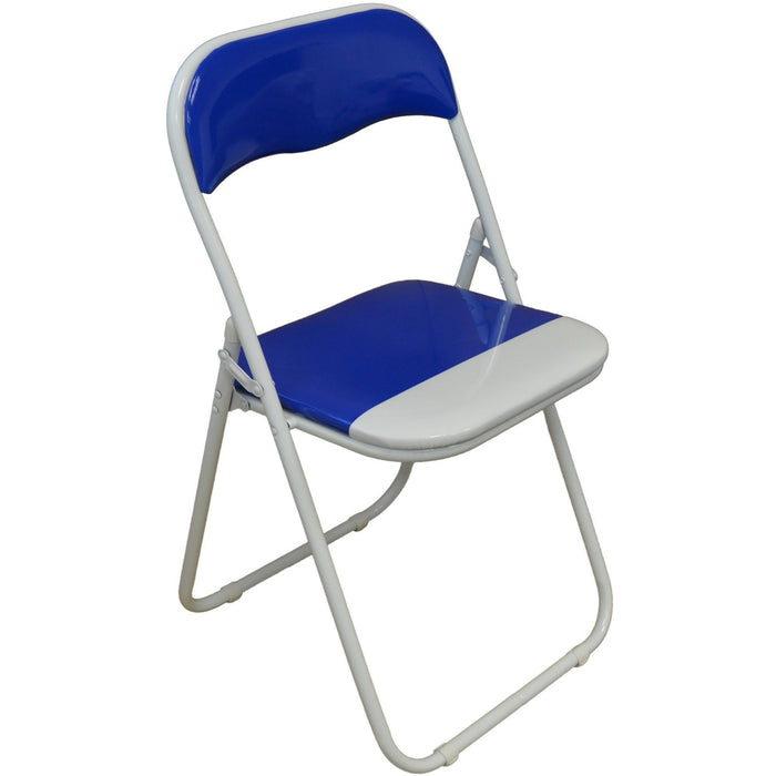 Harbour Housewares Blue / White Padded, Folding, Desk Chair