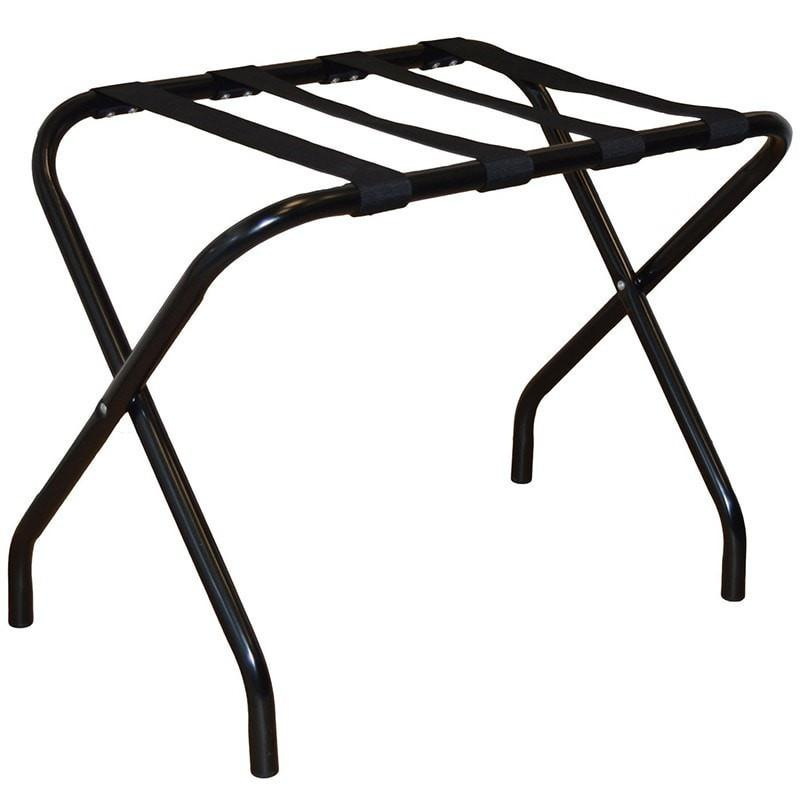 Harbour Housewares Folding Metal Luggage Rack - Black