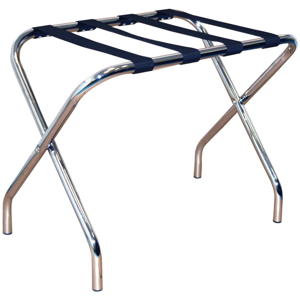Harbour Housewares Folding Metal Luggage Rack - Chrome