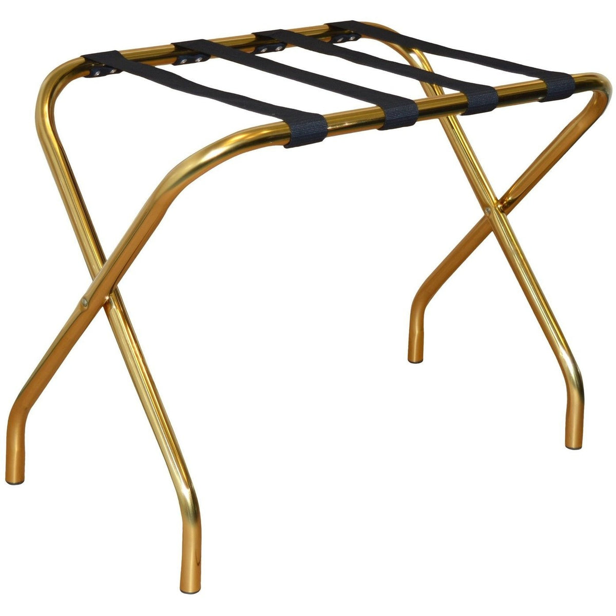 Harbour Housewares Folding Metal Luggage Rack - Gold