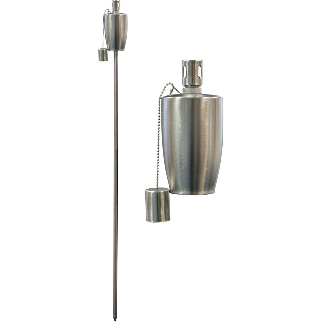 Harbour Housewares Outdoor Fire Torches - Silver - Round Design