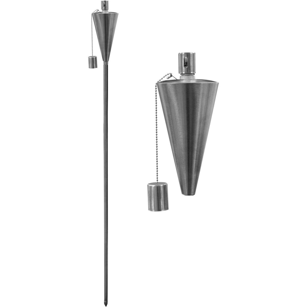 Harbour Housewares Outdoor Fire Torches - Silver - Triangle Design