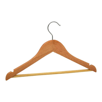 Harbour Housewares Natural Childrens Wooden Clothes / Coat Hanger