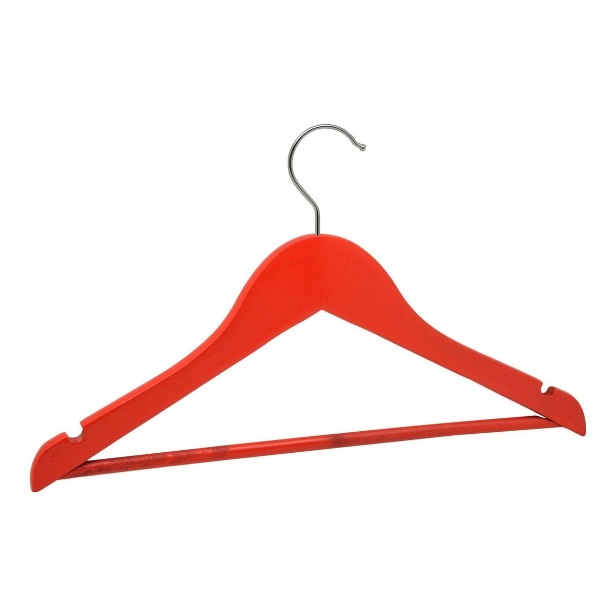Harbour Housewares Red Childrens Wooden Clothes / Coat Hanger