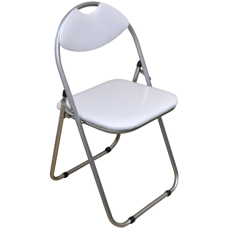 Harbour Housewares White Padded, Folding, Desk Chair