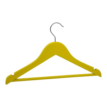 Harbour Housewares Yellow Childrens Wooden Clothes / Coat Hanger