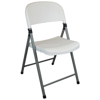 Harbour Housewares Heavy Duty Plastic Folding Chair - Outdoor and Camping Seating