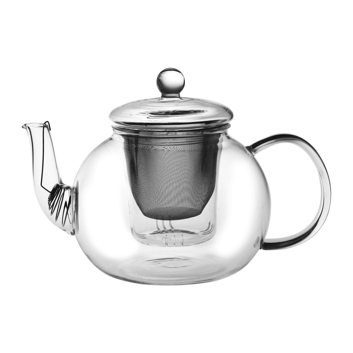 Argon Tableware Large Glass 3 Piece Teapot - Suitable For Loose Leaf Tea