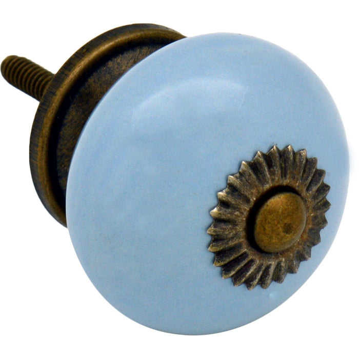 Nicola Spring Ceramic Door Knob and Handle - Blue