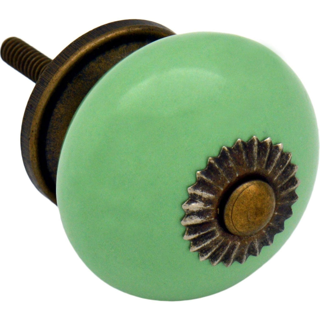 Nicola Spring Ceramic Door Knob and Handle - Green