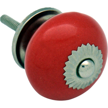 Nicola Spring Ceramic Door Knob and Handle - Red