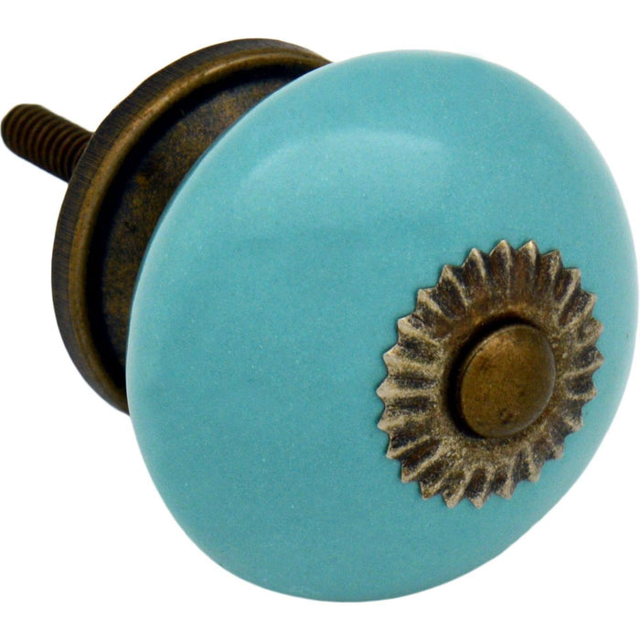 Nicola Spring Ceramic Door Knob and Handle - Turquoise