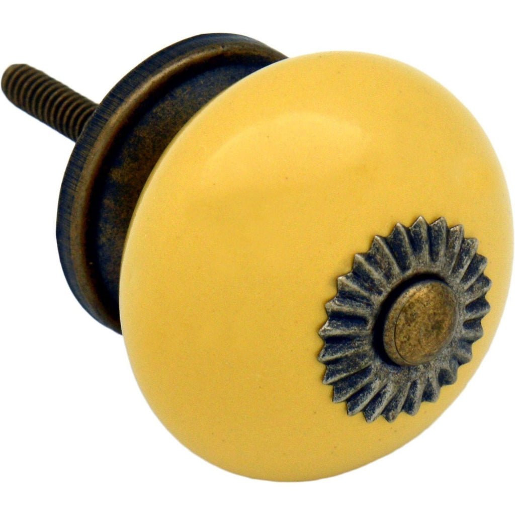 Nicola Spring Ceramic Door Knob and Handle - Yellow