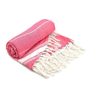 Nicola Spring Round Turkish Beach Towel - Pink
