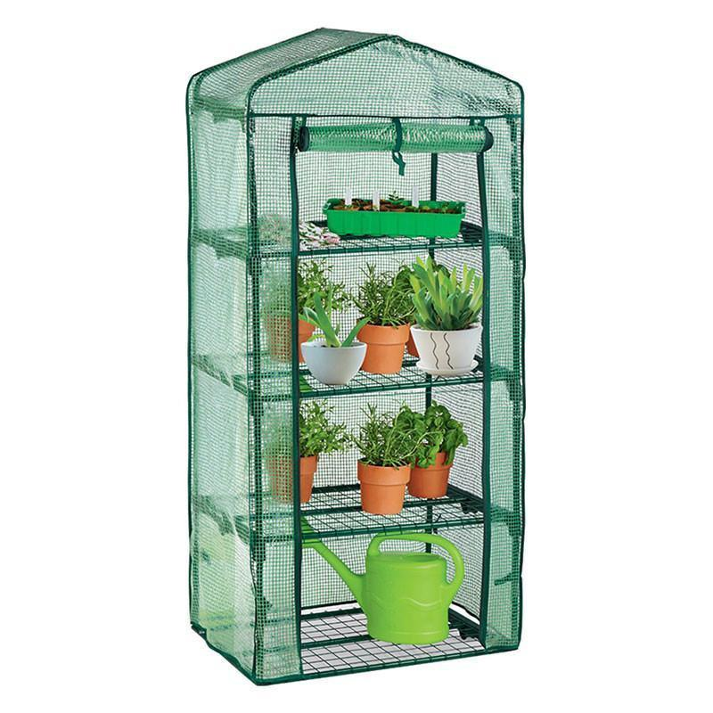Harbour Housewares Quadruple Shelf Greenhouse with Reinforced Weaved Cover
