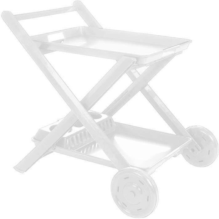 Resol Roses Folding Pool Drink Trolley - White