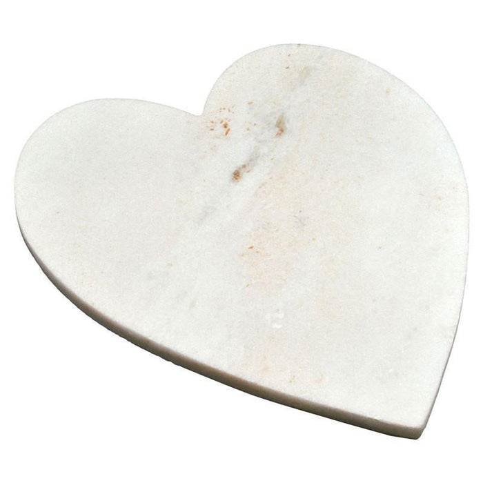 Argon Tableware White Heart Marble Chopping Board