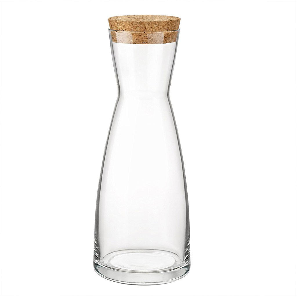 Bormioli Rocco Ypsilon Glass Water Carafe Decanter Jug with Lid - 1080ml