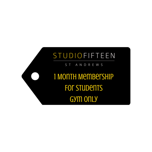 1 Month Gym Membership for Students
