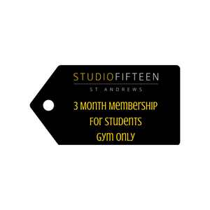 3 Month Gym Membership for Students