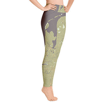 Olive Green Yoga Leggings