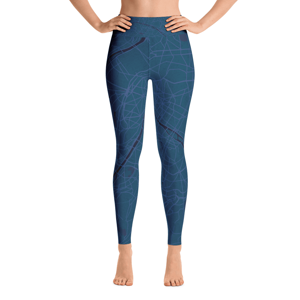 Yoga Leggings Paris Aubergine