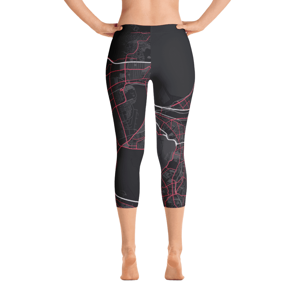 Capri Leggings Cape Town Black Pink
