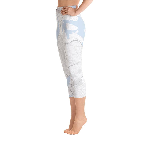 New York White Yoga Capri Leggings