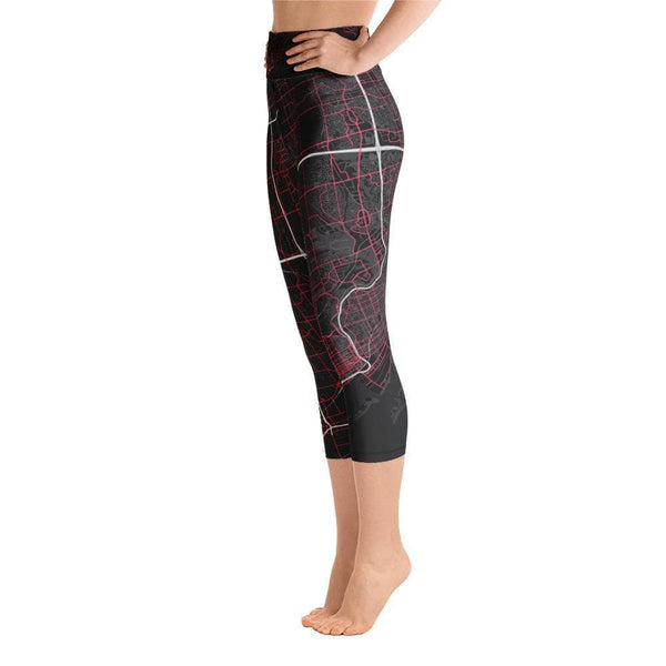 Yoga Capri Leggings Toronto Black & Pink