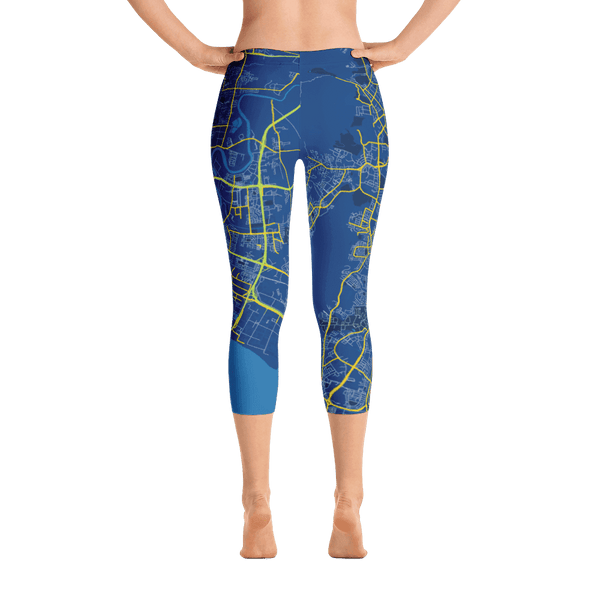 Capri Leggings Penang Blue