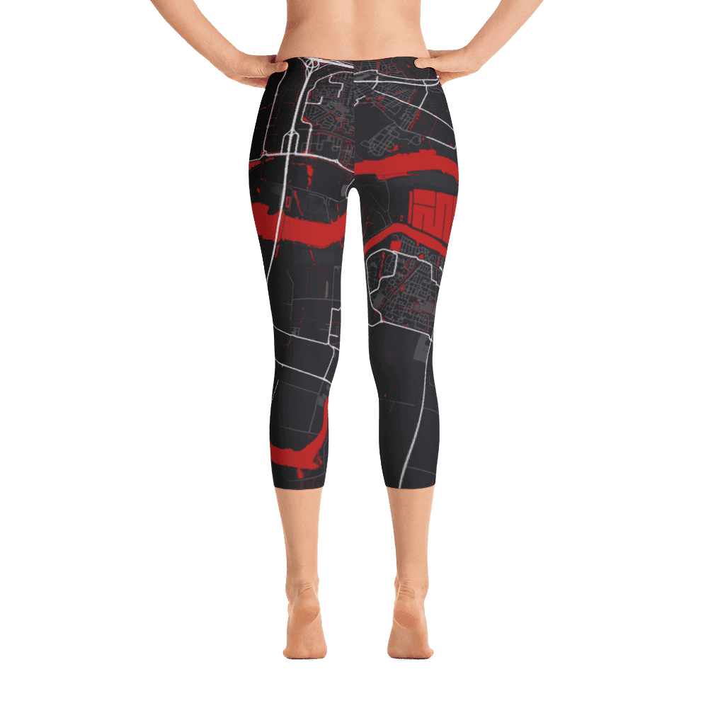 Capri Leggings Oud Beijerland Black Red