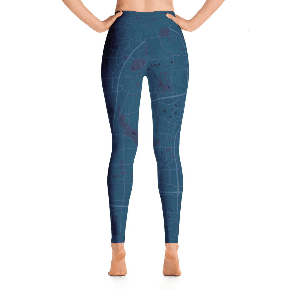 Yoga Leggings Plano Texas Aubergine