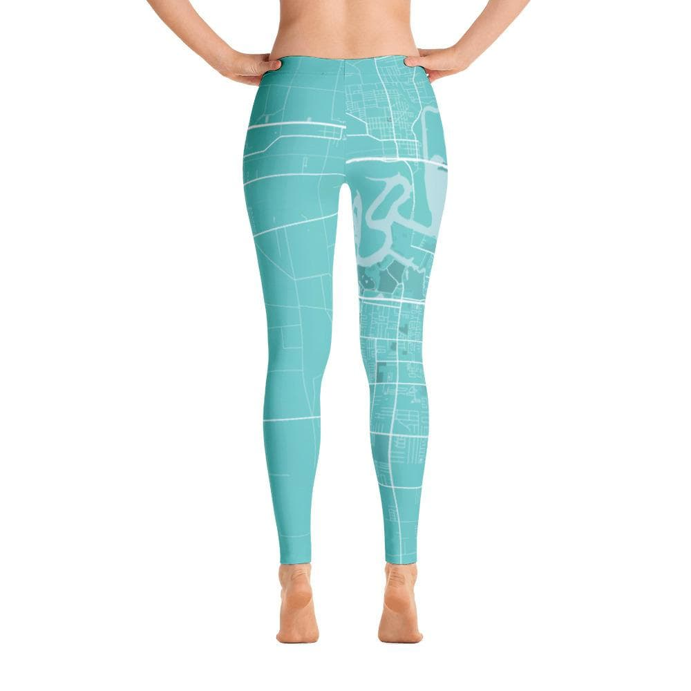 Lake Charles Louisiana Turquoise Leggings