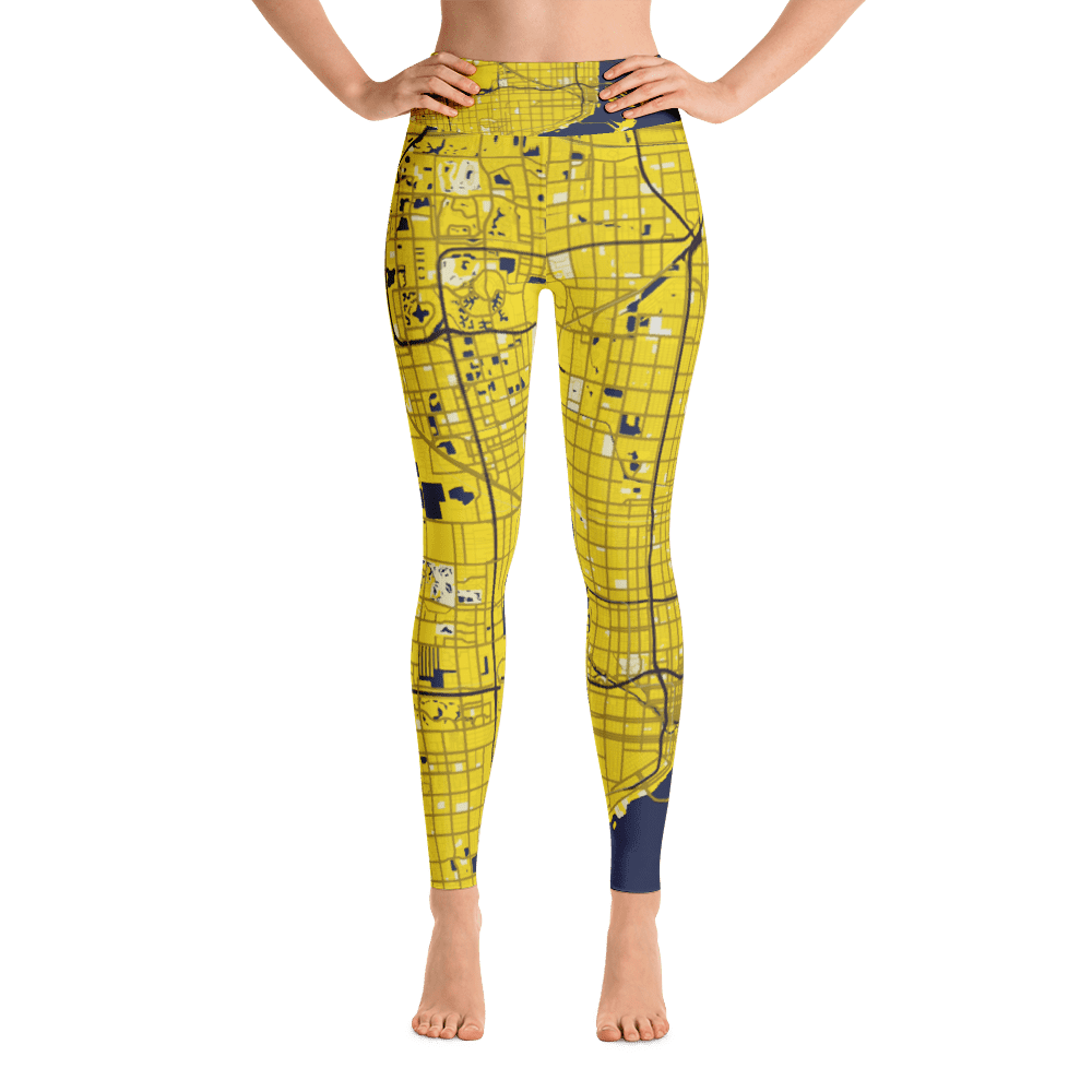 Yoga Leggings Miami Black Yellow