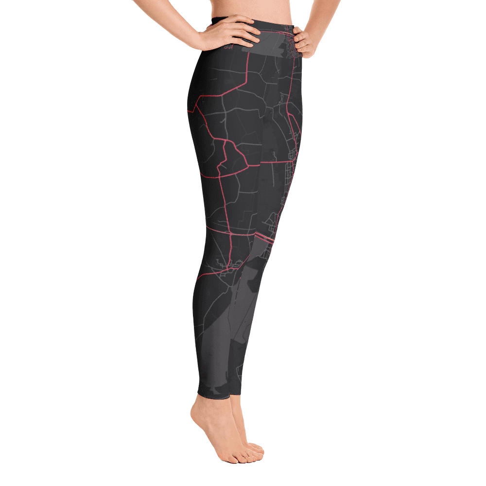 Yoga Leggings Nijverdal Black Pink