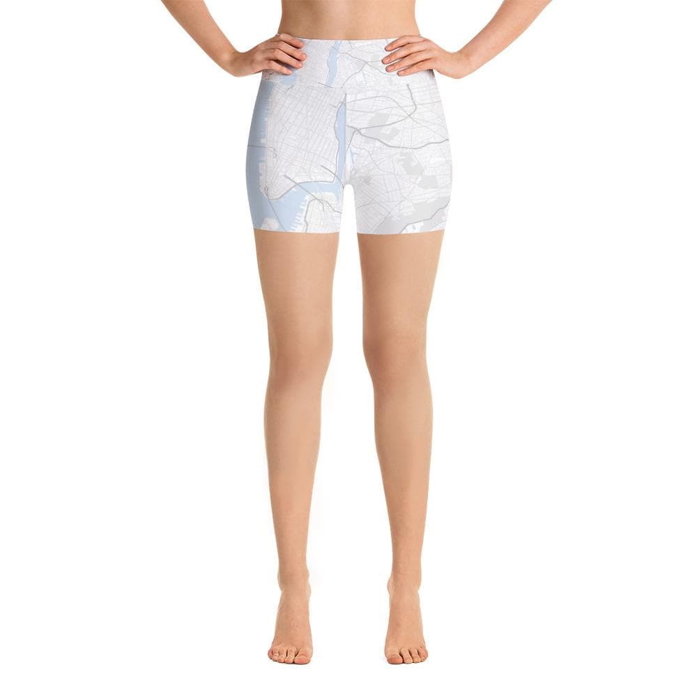 New York White Yoga Shorts