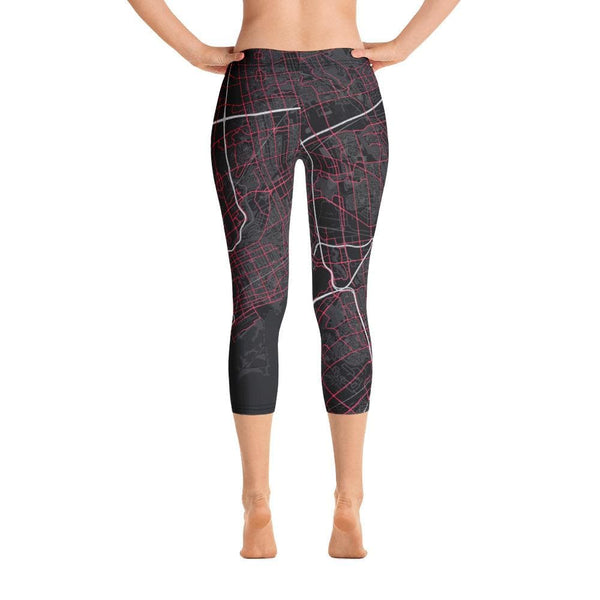 Capri Leggings Toronto Black & Pink