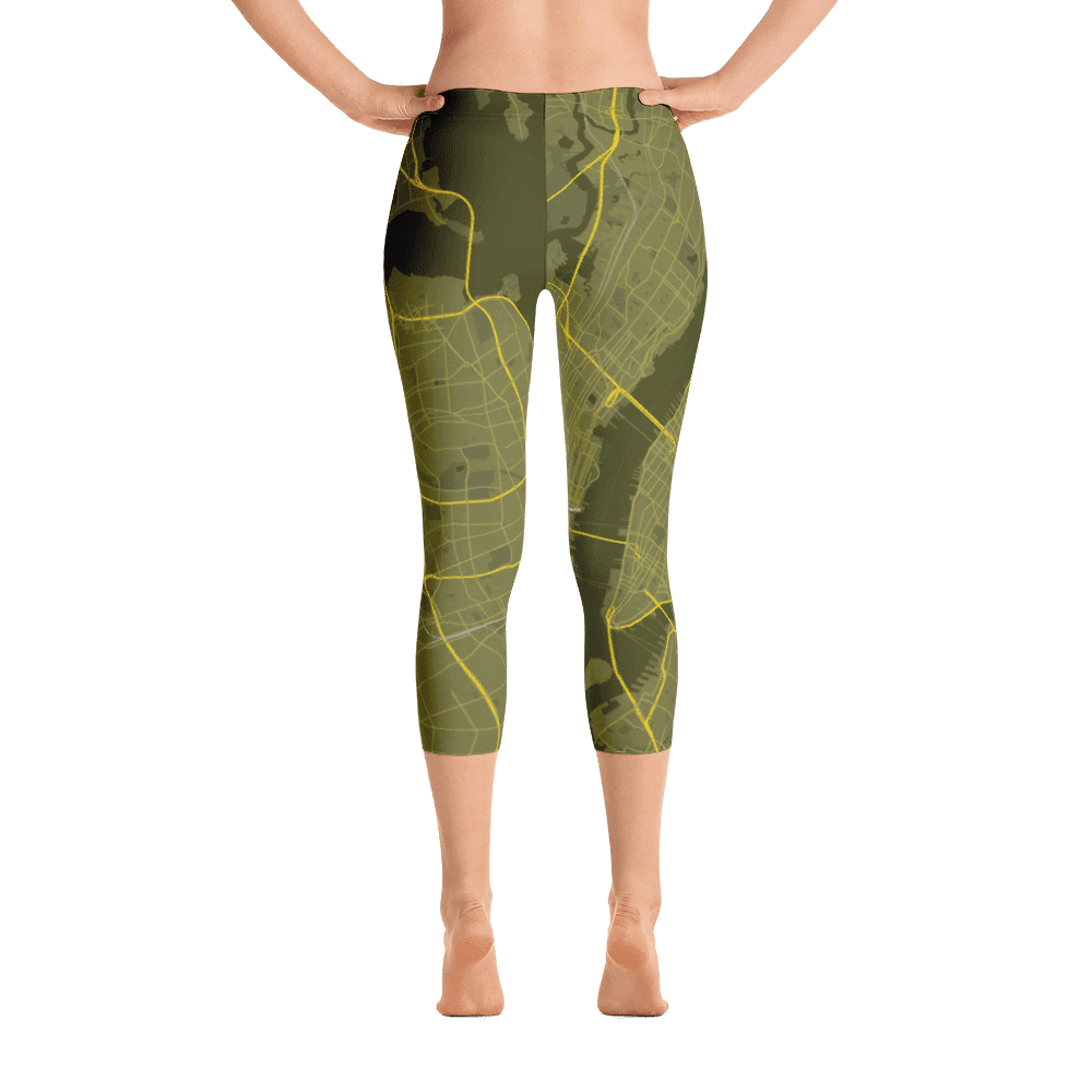 Capri Leggings New York Manhattan Olive Green