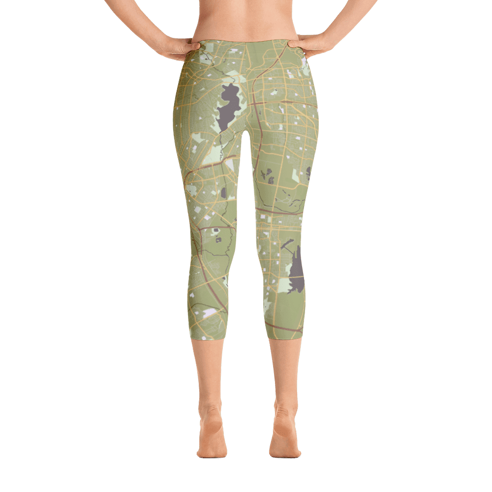 Capri Leggings Dallas Texas Olive Green