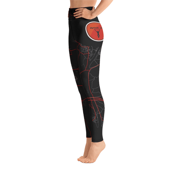 Yoga Leggings Goes Black & Red Megga Fit