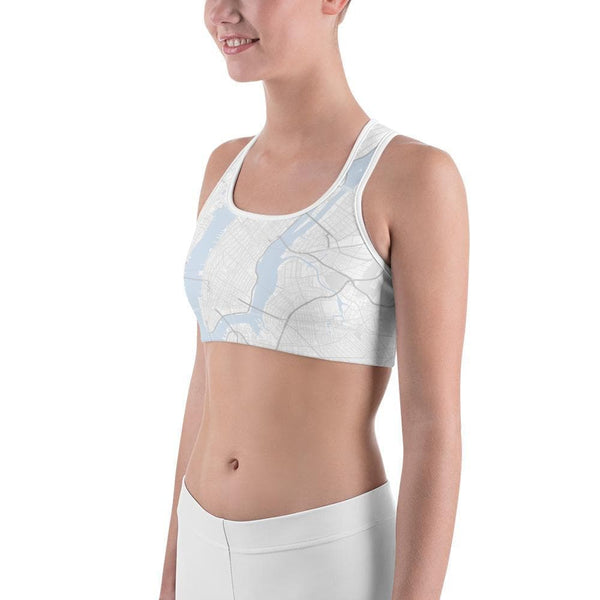 New York White Sports Bras