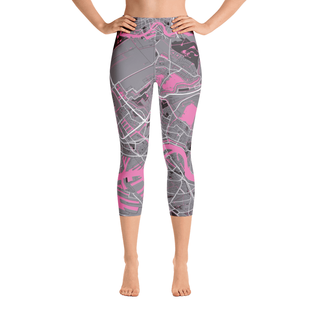 Yoga Capri Leggings Rotterdam Grey Pink
