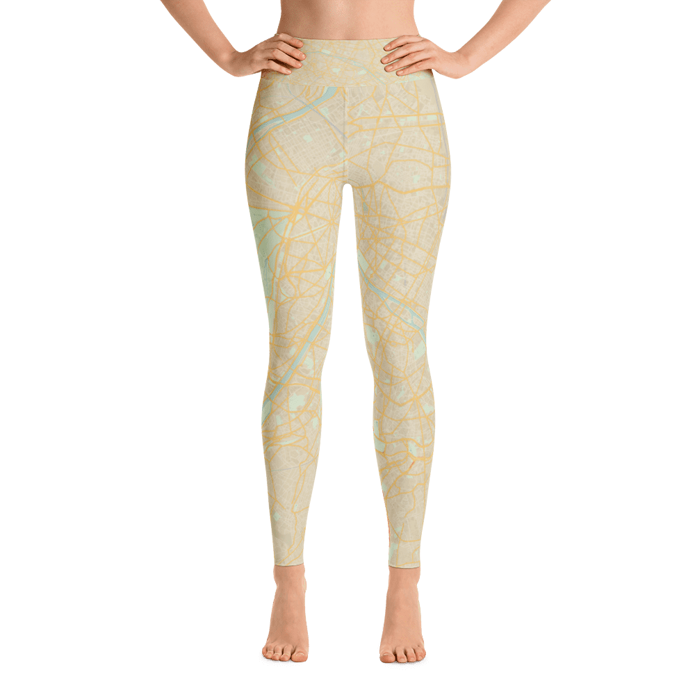 Yoga Leggings Paris Retro