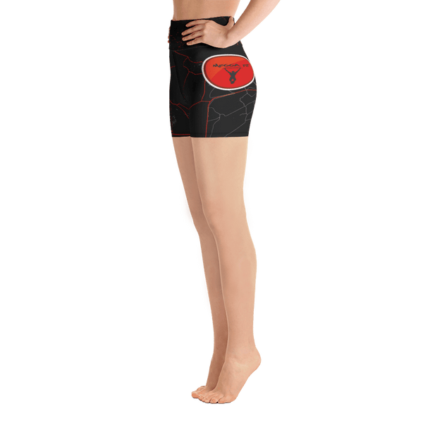 Yoga Shorts Goes Black & Red Megga Fit