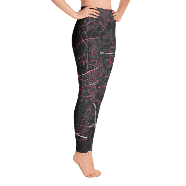 Yoga Leggings Rotterdam Black Pink